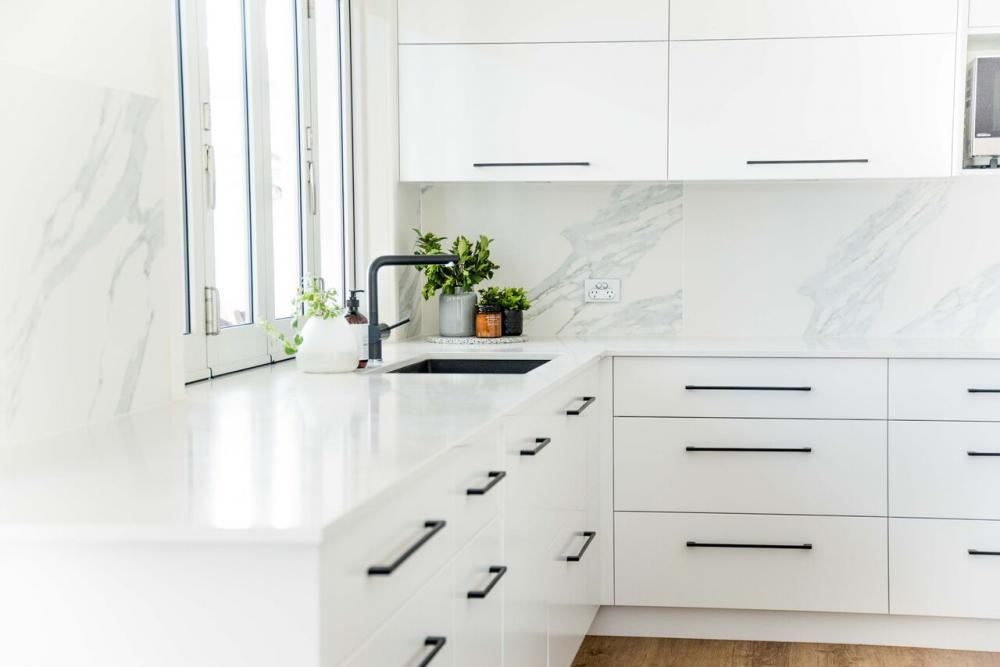 Galleries Of White Cabinets Black Handles Decoration Ideas Interior Functional Kitchen Greystone