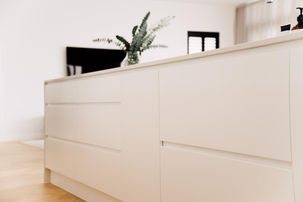 Scandinavian Inspired Home Greystone Cabinets