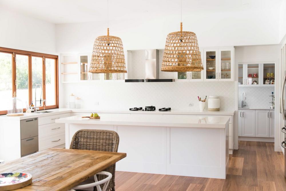 Modern Hampton Inspired Home Greystone Cabinets
