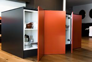 Modern Grey Kitchen Island Bench Storage