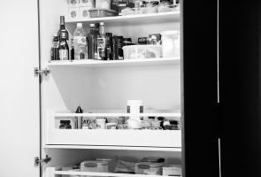 Modern Grey Kitchen Pantry