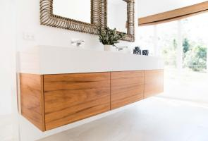 Ensuite Bathroom Timber Veneer Vanity