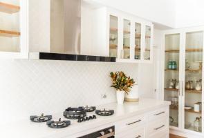 White Modern Hampton Kitchen