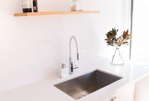Laundry Stone Bench Top Under Mount Sink