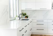 White Kitchen Black Handles