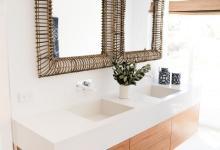 Modern Hampton Home Suspended Ensuite Vanity