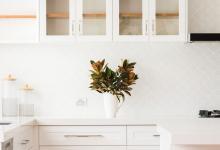 Modern Hampton Home Glass Upper Doors