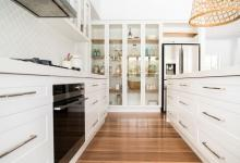 Modern Hampton Home Glass Pantry Doors