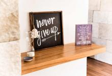 Modern Hampton Home Blackwood Veneer Shelf
