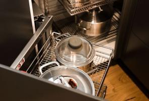 Modern Grey Kitchen Corner Cupboard Storage