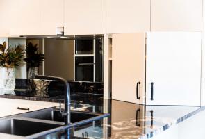 Modern Appliance Cupboard Elegant Black Sink