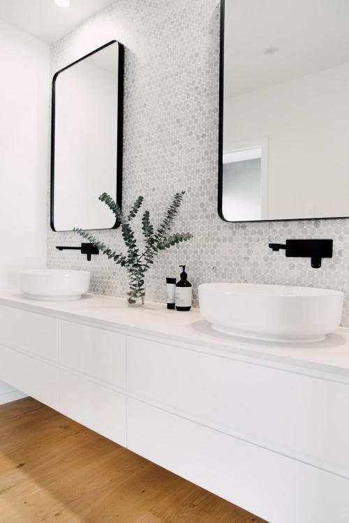 White Scandinavian Bathroom