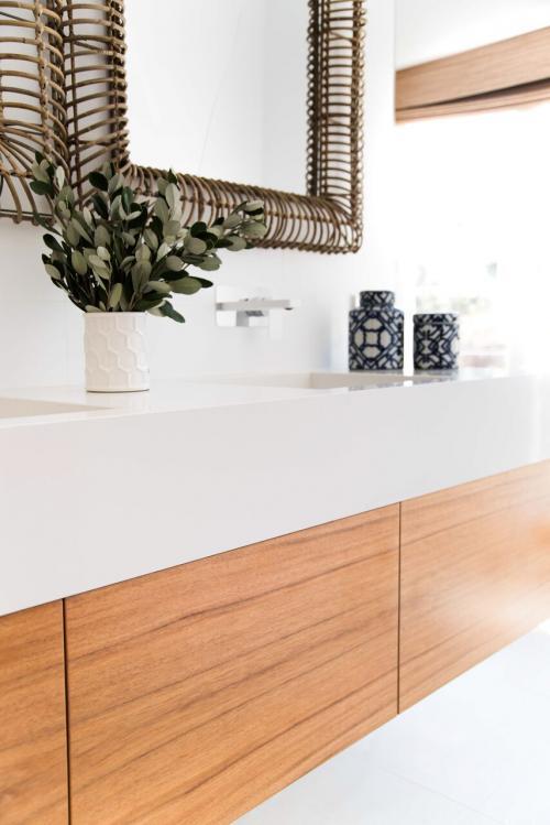Ensuite Bathroom Timber Veneer Vanity Drawers