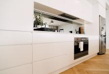 Minimal No Handle White Kitchen